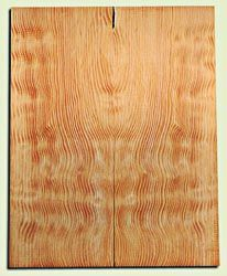 """DFES12231 - Wavy Douglas Fir Solid Body Guitar Top Set, Rare, 3/4 Sawn Old Growth, Unusual Guitar Wood, Strat size.  2 panels each  .24"""" x 8"""" x 20""""  S1S"""