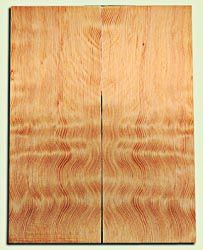 """DFES12233 - Wavy Douglas Fir Solid Body Guitar Top Set, Rare, 3/4 Sawn Old Growth, Unusual Guitar Wood, Strat size.  2 panels each  .24"""" x 8"""" x 20""""  S1S"""