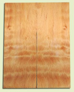 """DFES12234 - Wavy Douglas Fir Solid Body Guitar Top Set, Rare, 3/4 Sawn Old Growth, Unusual Guitar Wood, Strat size.  2 panels each  .24"""" x 8"""" x 20""""  S1S"""