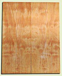 "DFES12253 - Wavy Douglas Fir Les Paul Guitar Top Set, Rare, 3/4 Sawn Old Growth, Premium Guitar Wood.   2 panels each  .625"" x 8"" x 20""  S1S"