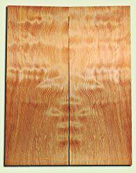"""DFES12255 - Wavy Douglas Fir Les Paul Guitar Top Set, Rare, 3/4 Sawn Old Growth, Excellent Guitar Wood.   2 panels each  .620"""" x 7.75"""" x 20""""  S1S"""