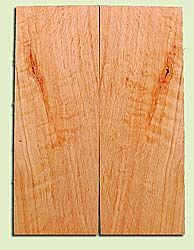"""CDES13472 - Port Orford Cedar, Solid Body Guitar or Bass Drop Top Set, Salvaged Old Growth, Excellent Color With Med Curl, Highly ResonantGuitar Wood, Adds Great Tonal Quality , 2 panels each 0.24"""" x 8"""" X 22"""", S1S"""