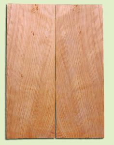 """CDSB13505 - Port Orford Cedar, Drop Top Set, Salvaged Old Growth, Very Good Color & Curl, Wide Grain,  Adds Great Tonal Quality , 2 panels each 0.18"""" x 8"""" X 22"""", S1S"""