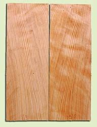 """CDSB13506 - Port Orford Cedar,  Drop Top Set, Salvaged Old Growth, Very Good Color & Curl, Wide Grain   Adds Great Tonal Quality , 2 panels each 0.18"""" x 8"""" X 22"""", S1S"""