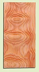 """DFHS15037 - Flat Sawn Curly Douglas Fir, Guitar Headstock Plate, Very Good Figure & Colors, Adds Pazzazz, Multiples Available, each 0.15"""" x 4"""" X 8"""""""