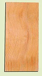 """DFHS15038 - Curly Douglas Fir, Guitar Headstock Plate, Very Good Figure & Colors, Adds Pazzazz, Multiples Available, each 0.15"""" x 3.5"""" X 7"""""""