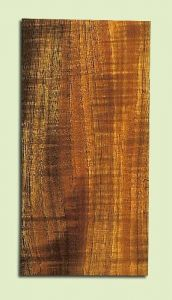 """KOHS15040 - Curly Koa, Guitar Head Plate, Salvaged Old Growth, Very Good Color& Curl, ExquisiteGuitar Wood, Multiples Available, each 0.15"""" x 43.5"""" X 7"""""""