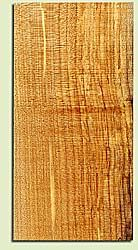"""MAHS16859 - Spalted Curly Maple, Guitar Headstock Plate, Air Dried, Lt. Spalt & Fine Curl, Adds Pazzazz, Multiples Available, each 0.15"""" x 4"""" X 8"""""""