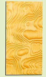 """DFHS16874 - Curly Flatsawn Douglas Fir, Guitar Headstock Plate, Air Dried, Very Good Color & Curl, Adds Pazzazz, Multiples Available, each 0.15"""" x 3.5"""" X 7"""""""