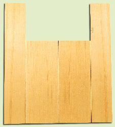 """YCAS17753 - Alaska Yellow Cedar, Dreadnought Size Acoustic Guitar Back & Side Set, Med. to Fine Grain Salvaged Old Growth, Excellent Color, Highly ResonantGuitar Wood, Minor Cosmetic Flaw, 2 panels each 0.15"""" x 8.5"""" x 22"""", S1S, and 2 panels each 0.15"""" x"""
