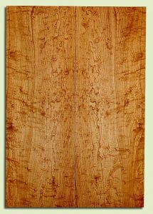 """RWES32826 - Rock Maple, Solid Body Guitar Fat Drop Top Set, Med. to Fine Grain Salvaged Old Growth, Excellent Color& Curl, Eco-FriendlyGuitar Tonewood, 2 panels each 0.37"""" x 7.875"""" x 22.875"""", S2S"""