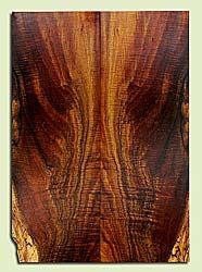 "KOES33548 - Koa, Solid Body Guitar Les Paul Top Set, Med. to Fine Grain, Excellent Color& Curl, RareGuitar Wood, 2 panels each 0.56"" x 7.625"" x 21.5"", S2S"