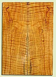 """CDES41910 - Port Orford Cedar, Solid Body Guitar Fat Drop Top Set, Med. to Fine Grain Salvaged Old Growth, Excellent Color& Curl, Amazing Guitar Wood, 2 panels each 0.34"""" x 8.25"""" x 23.75"""", S2S"""