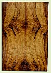 """MYES42657 - Myrtlewood, Solid Body Guitar or Bass Drop Top Set, Med. to Fine Grain, Excellent Color, GreatGuitar Wood, Note: bark inclusions, 2 panels each 0.21"""" x 7.625"""" x 23"""", S2S"""