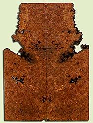 """MAES42728 - Western Big Leaf Maple, Solid Body Guitar or Bass Drop Top Set, Med. to Fine Grain Salvaged Old Growth, Excellent Color& Burl, GreatGuitar Wood, Note: Bark inclusions, 2 panels each 0.28"""" x 5 to 8.375"""" x 23.125"""", S2S"""