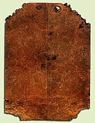 """MAES42754 - Western Big Leaf Maple, Solid Body Guitar Drop Top Set, Med. to Fine Grain Salvaged Old Growth, Excellent Color& Burl, GreatGuitar Wood, Note:  Bark Inclusions, 2 panels each 0.26"""" x 8.25"""" x 22.625"""", S2S"""