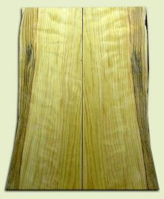 """CDES06896 - Curly Port Orford Cedar Solid Body Guitar Top Set, Good Figure, Salvaged Old Growth, Excellent Tap Tone, Strat or Bass Guitar size.  2 panels each  .18"""" x 9>6.5"""" x 22.5""""  S1S  Rare Guitar Wood"""